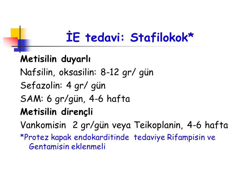 İE tedavi: Stafilokok*
