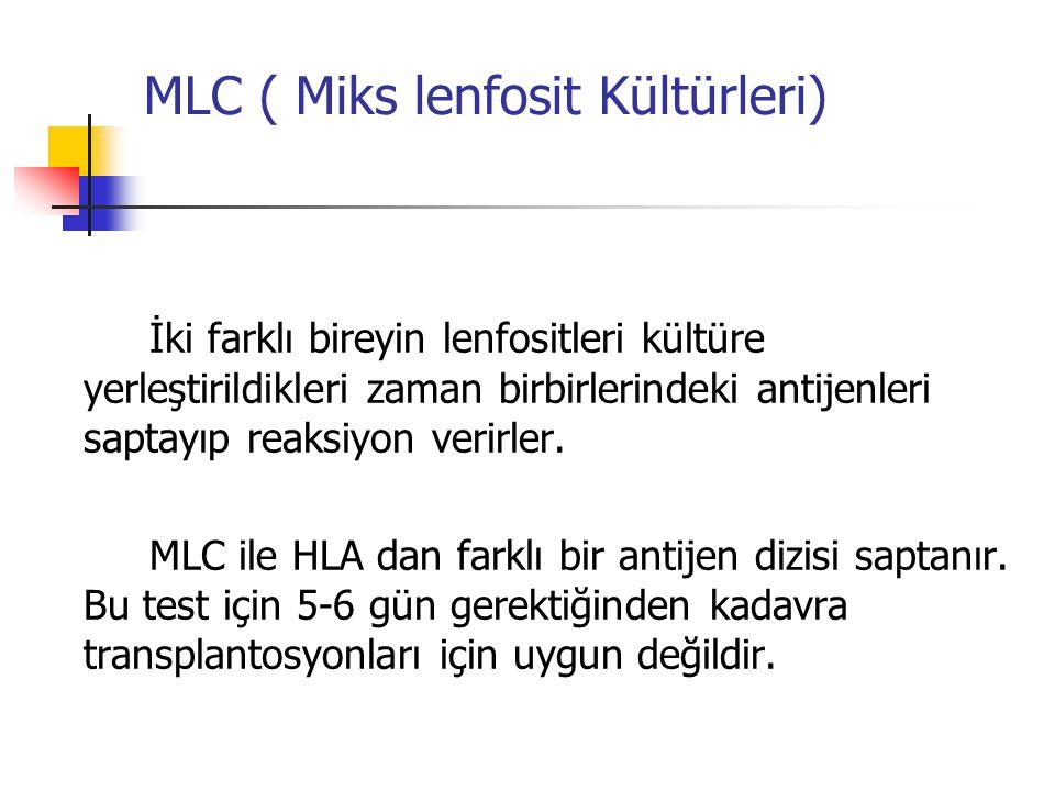 MLC ( Miks lenfosit Kültürleri)