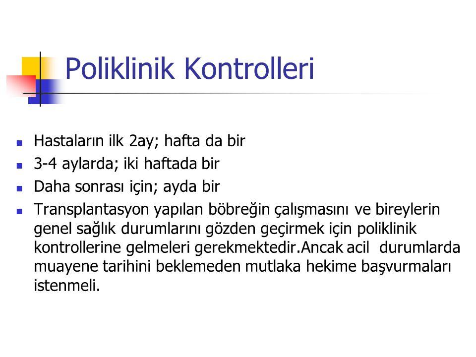 Poliklinik Kontrolleri