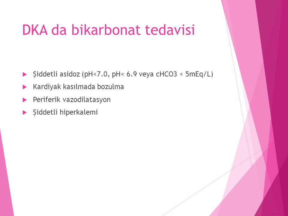 DKA da bikarbonat tedavisi