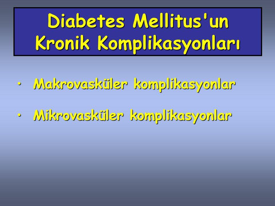 Diabetes Mellitus un Kronik Komplikasyonları