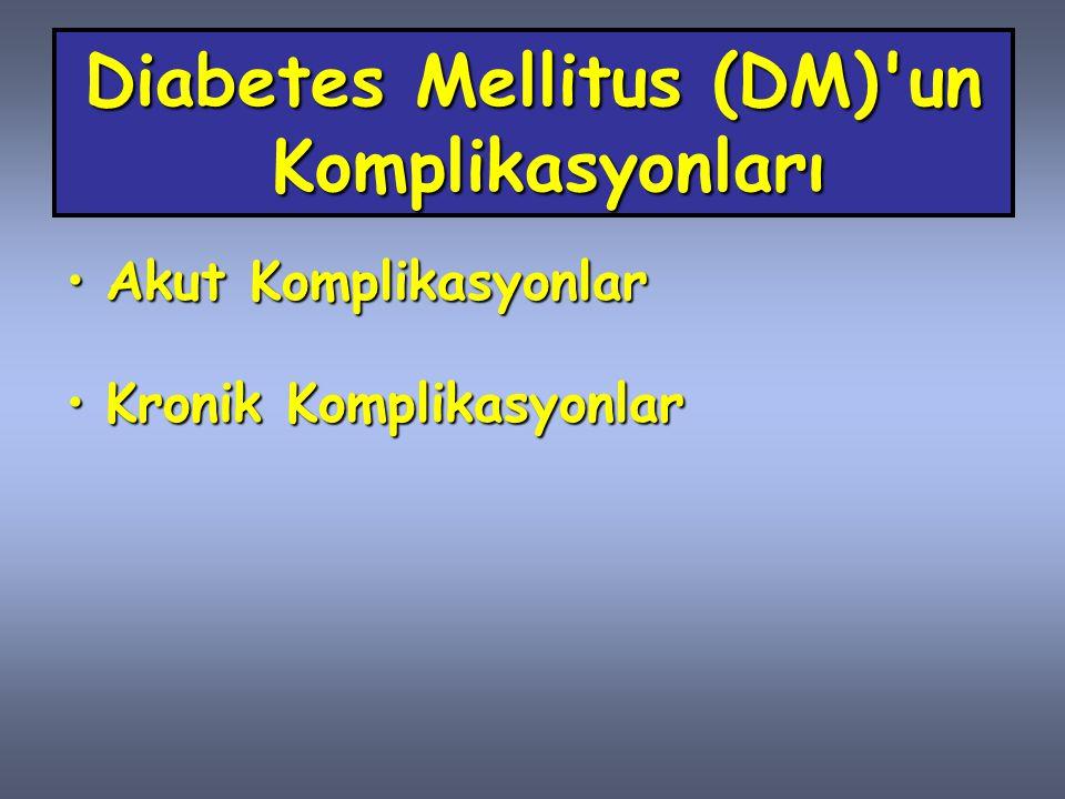 Diabetes Mellitus (DM) un Komplikasyonları