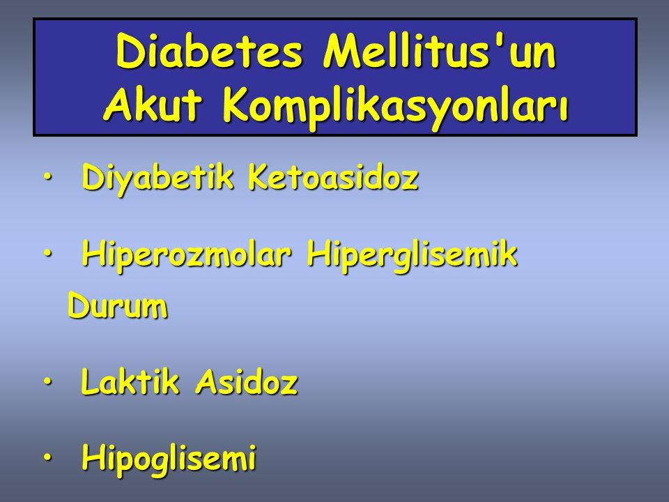 Diabetes Mellitus un Akut Komplikasyonları