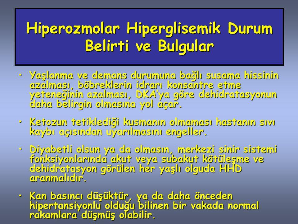 Hiperozmolar Hiperglisemik Durum Belirti ve Bulgular