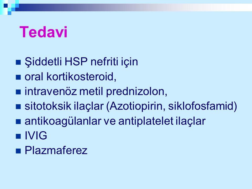 Tedavi Şiddetli HSP nefriti için oral kortikosteroid,