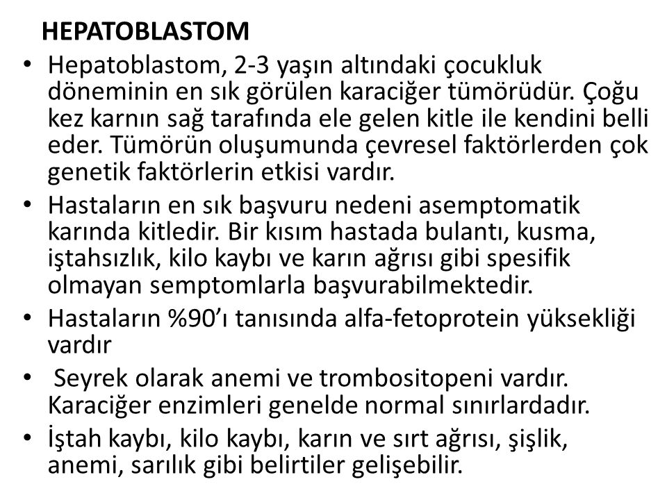 HEPATOBLASTOM