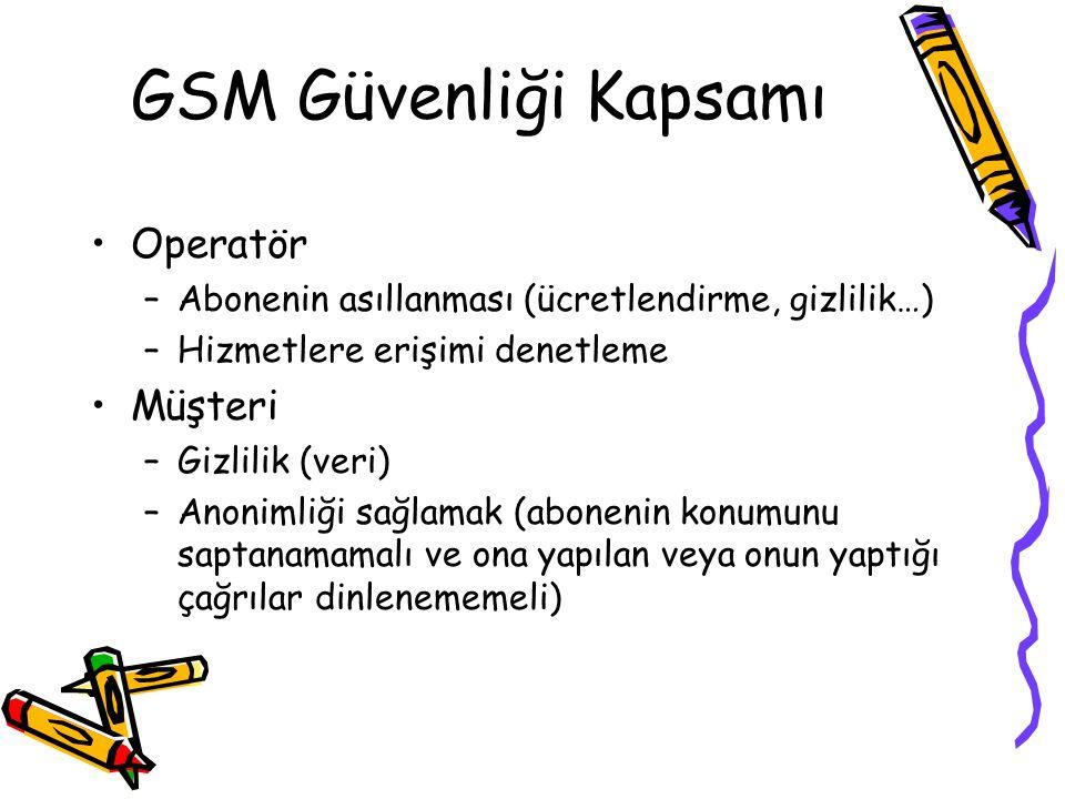 GSM Güvenliği Kapsamı Operatör Müşteri