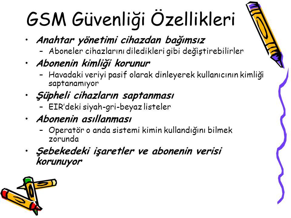 GSM Güvenliği Özellikleri