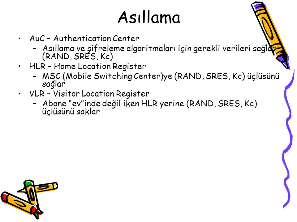 Asıllama AuC – Authentication Center
