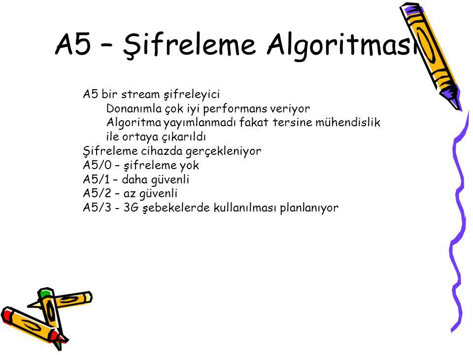A5 – Şifreleme Algoritması