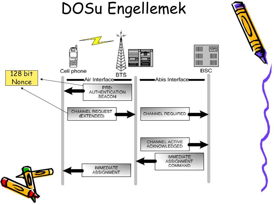 DOSu Engellemek 128 bit Nonce