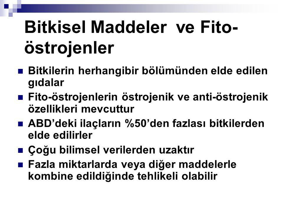 Bitkisel Maddeler ve Fito-östrojenler