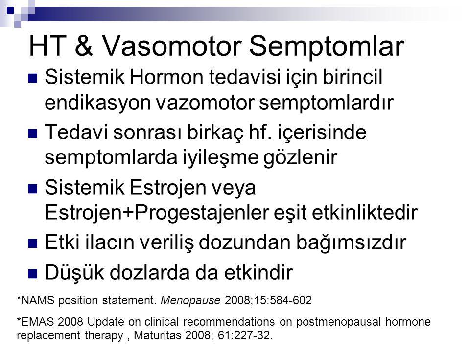 HT & Vasomotor Semptomlar