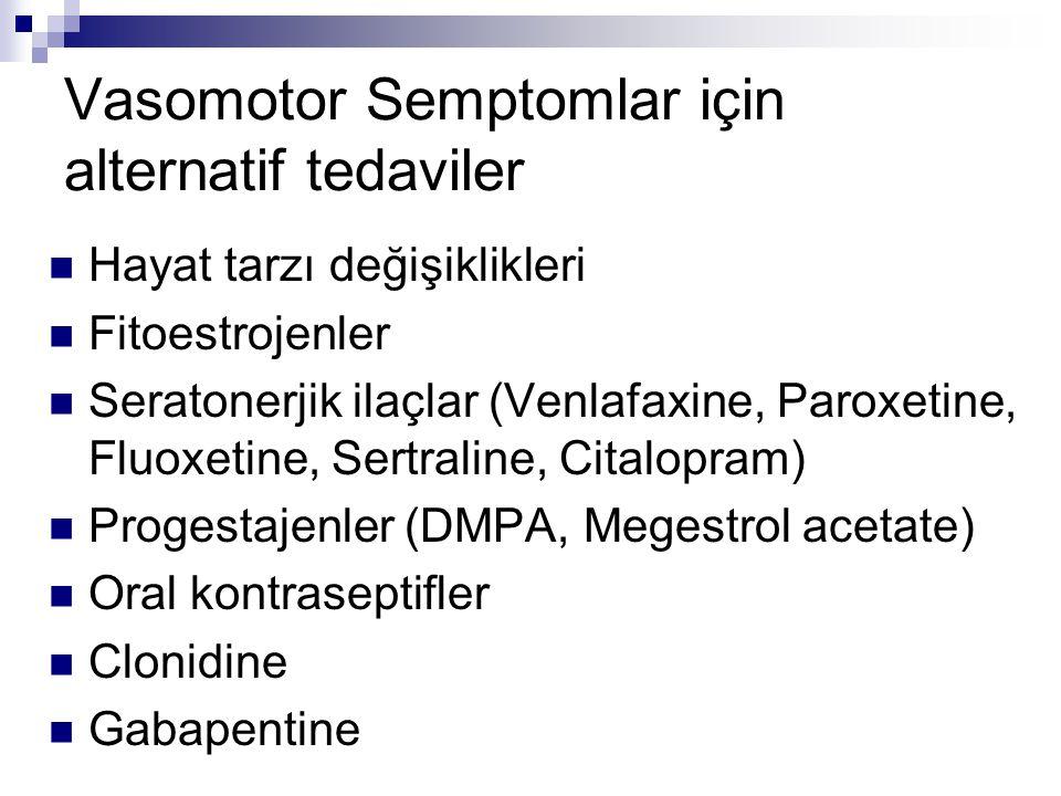 Vasomotor Semptomlar için alternatif tedaviler