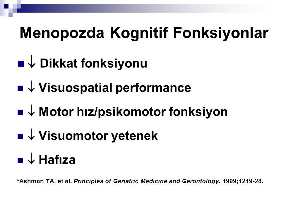 Menopozda Kognitif Fonksiyonlar