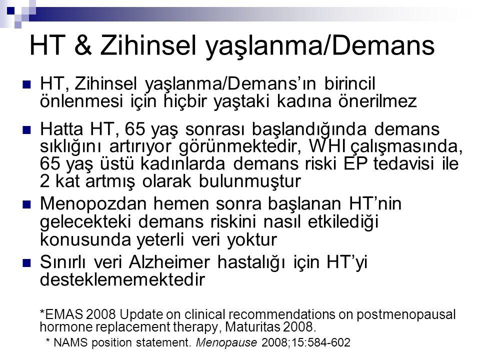 HT & Zihinsel yaşlanma/Demans
