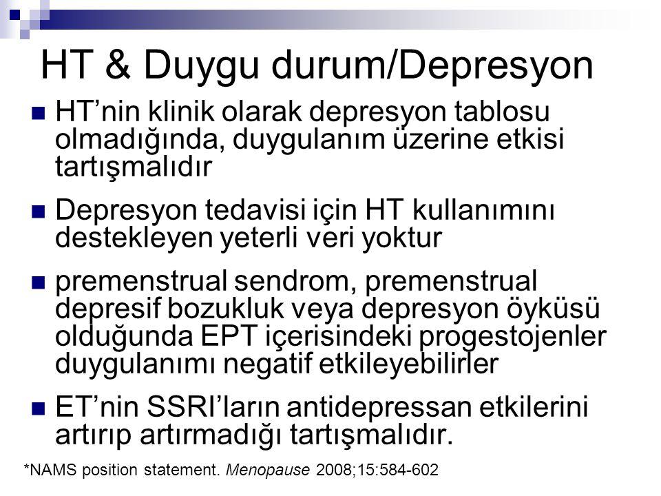 HT & Duygu durum/Depresyon