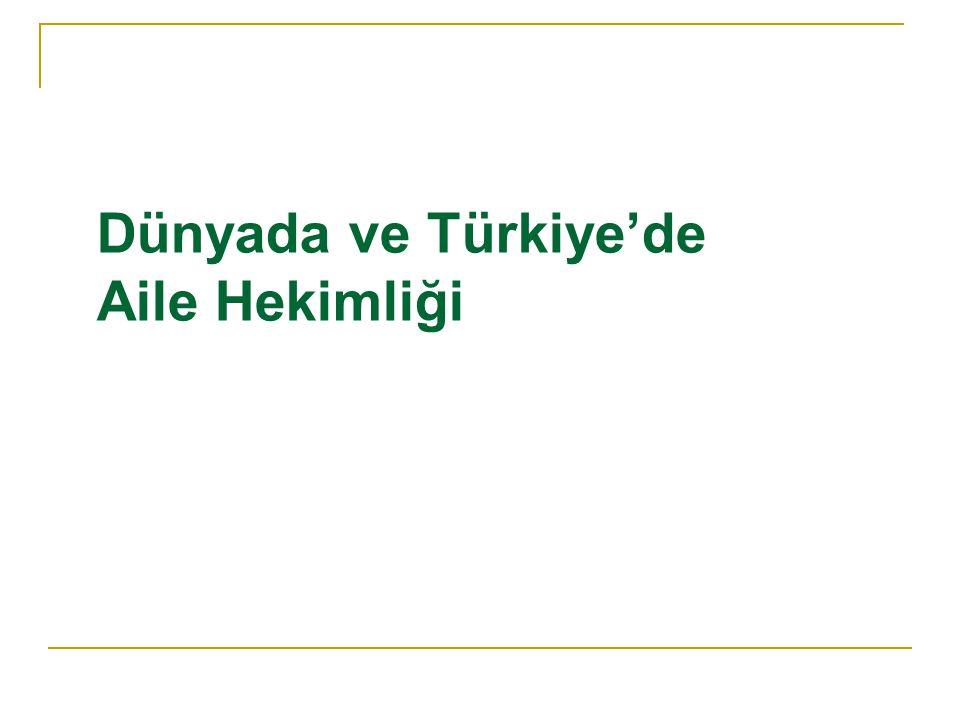 Dünyada ve Türkiye'de Aile Hekimliği