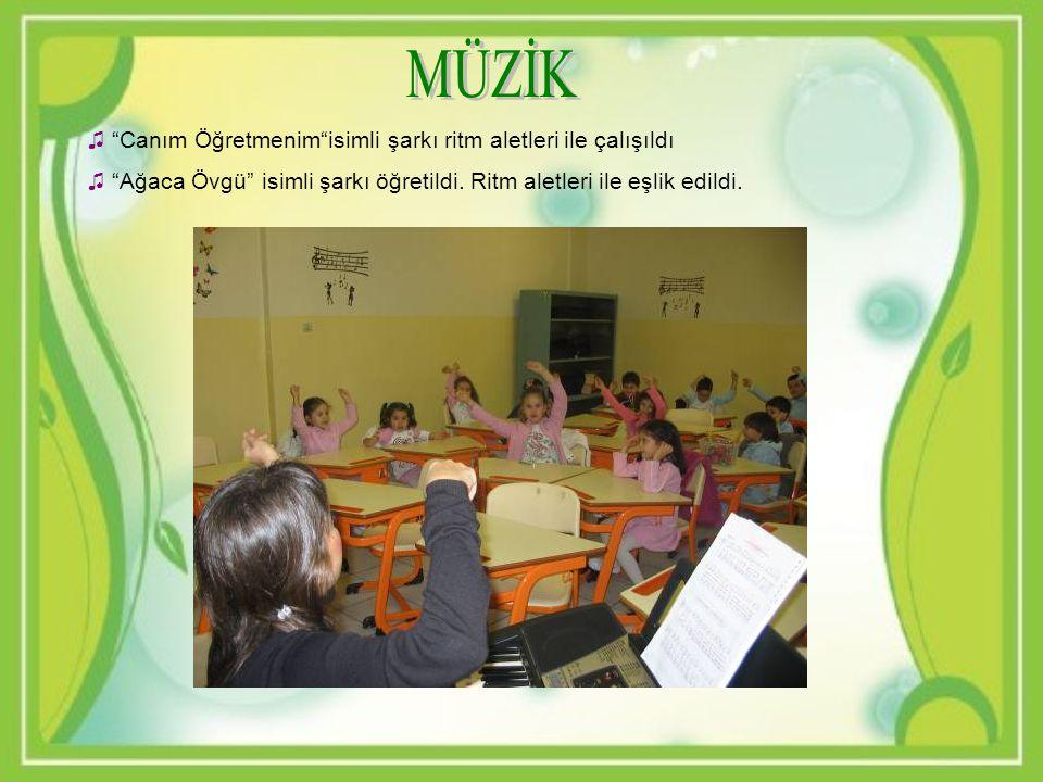 MÜZİK Canım Öğretmenim isimli şarkı ritm aletleri ile çalışıldı