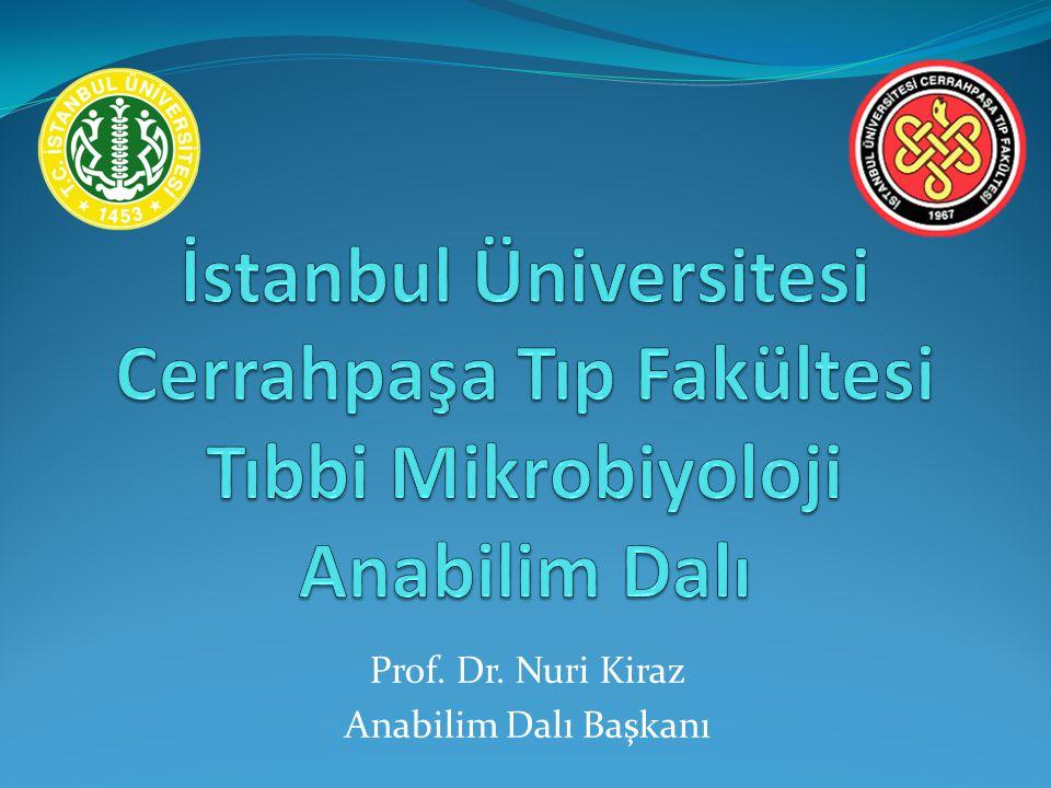 Prof. Dr. Nuri Kiraz Anabilim Dalı Başkanı