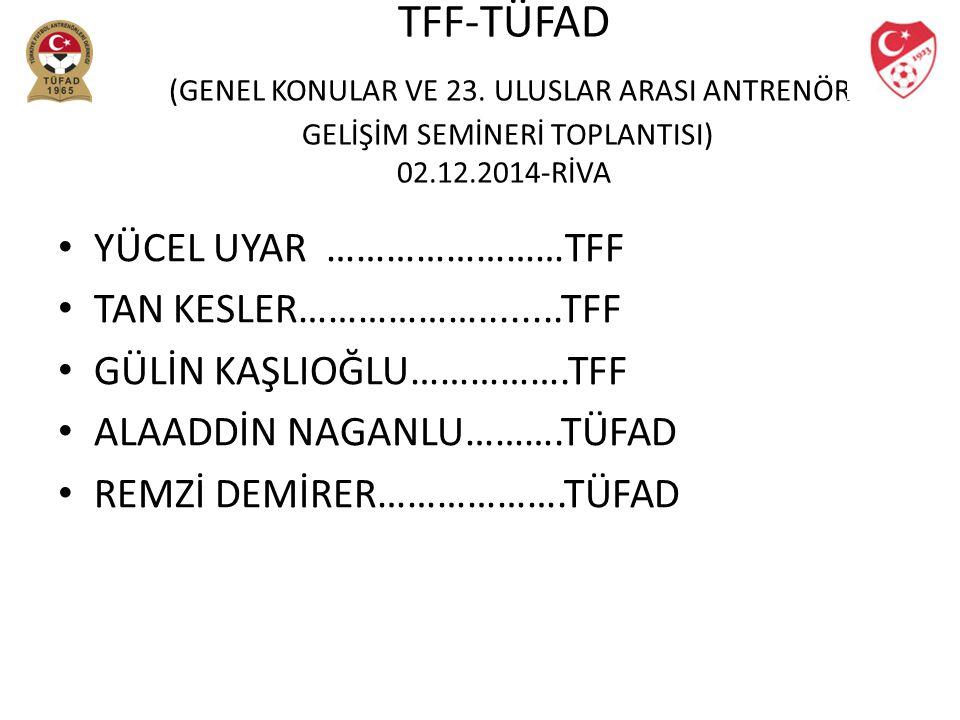 TFF-TÜFAD (GENEL KONULAR VE 23