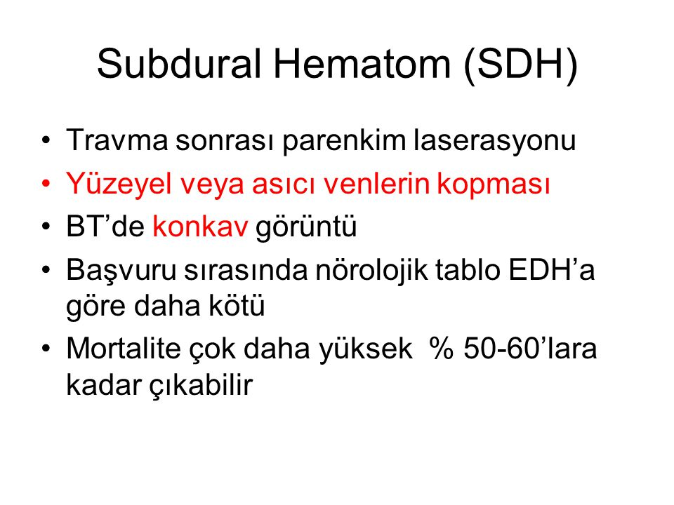 Subdural Hematom (SDH)