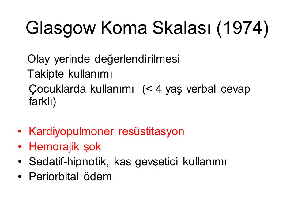 Glasgow Koma Skalası (1974)