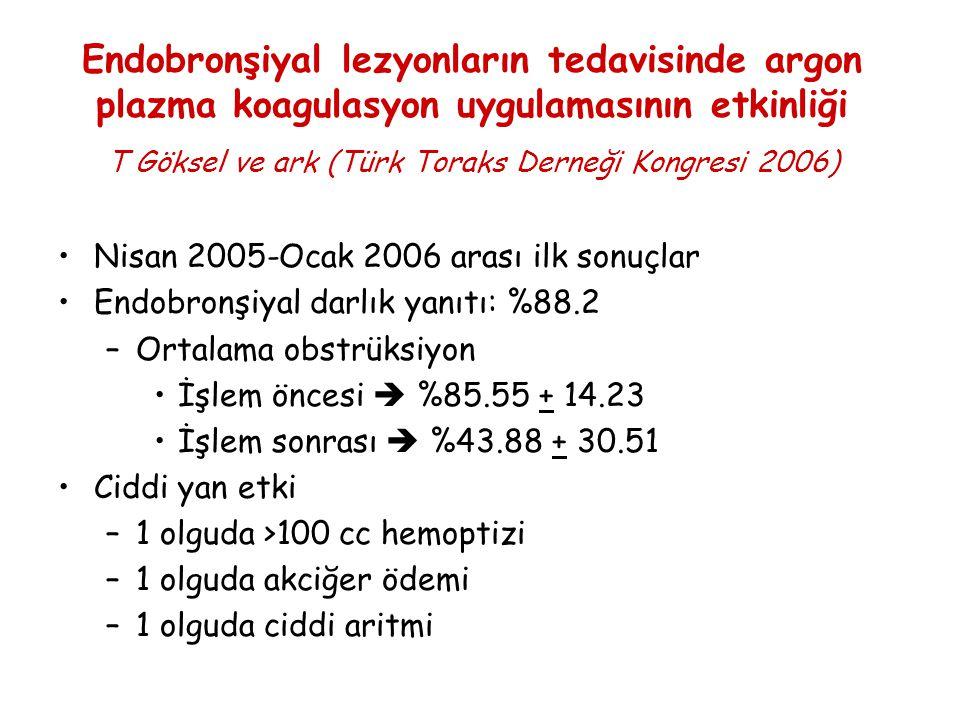 T Göksel ve ark (Türk Toraks Derneği Kongresi 2006)
