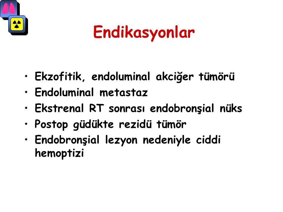 Endikasyonlar Ekzofitik, endoluminal akciğer tümörü