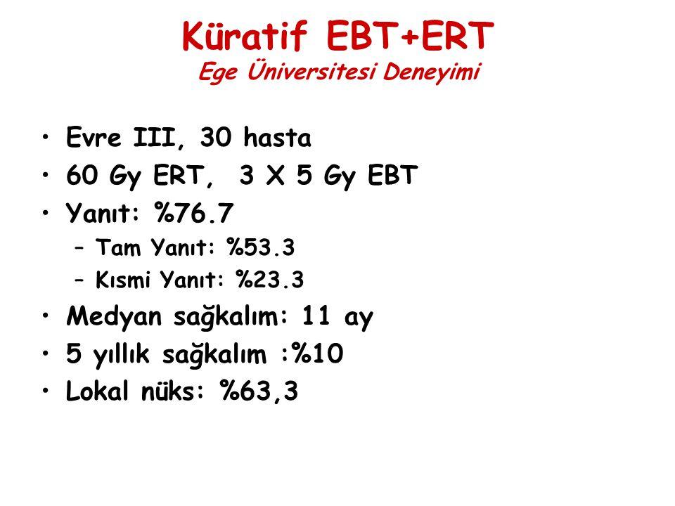 Küratif EBT+ERT Ege Üniversitesi Deneyimi