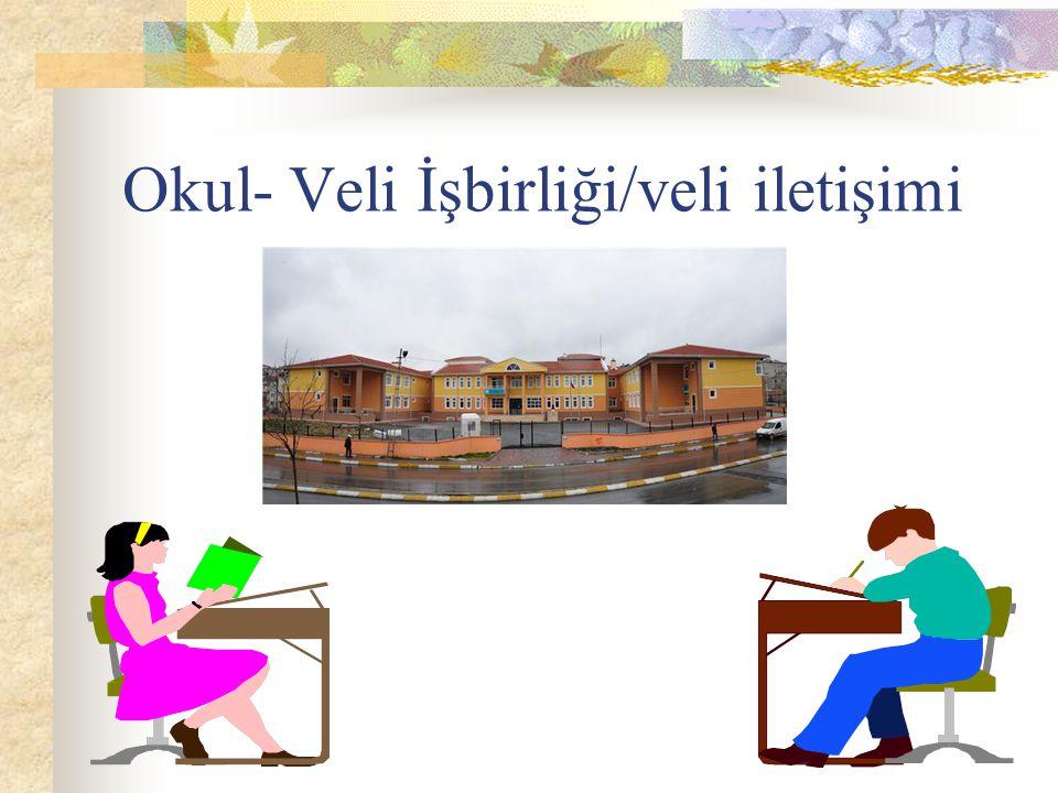 Okul- Veli İşbirliği/veli iletişimi