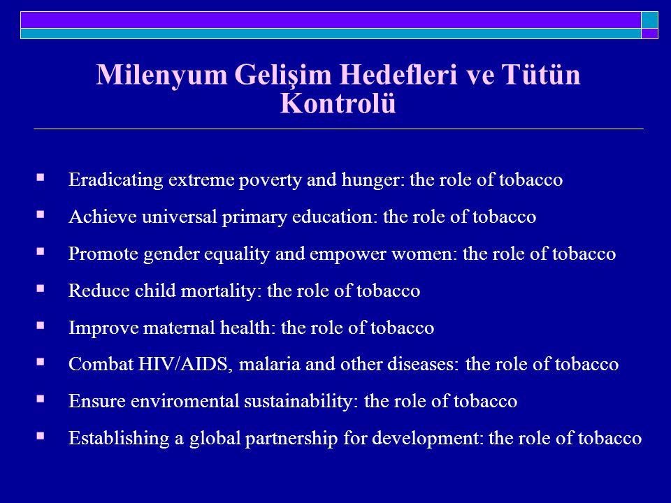 Milenyum Gelişim Hedefleri ve Tütün Kontrolü