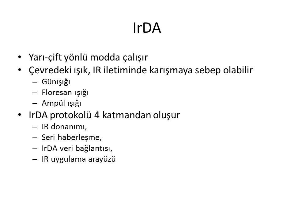IrDA Yarı-çift yönlü modda çalışır