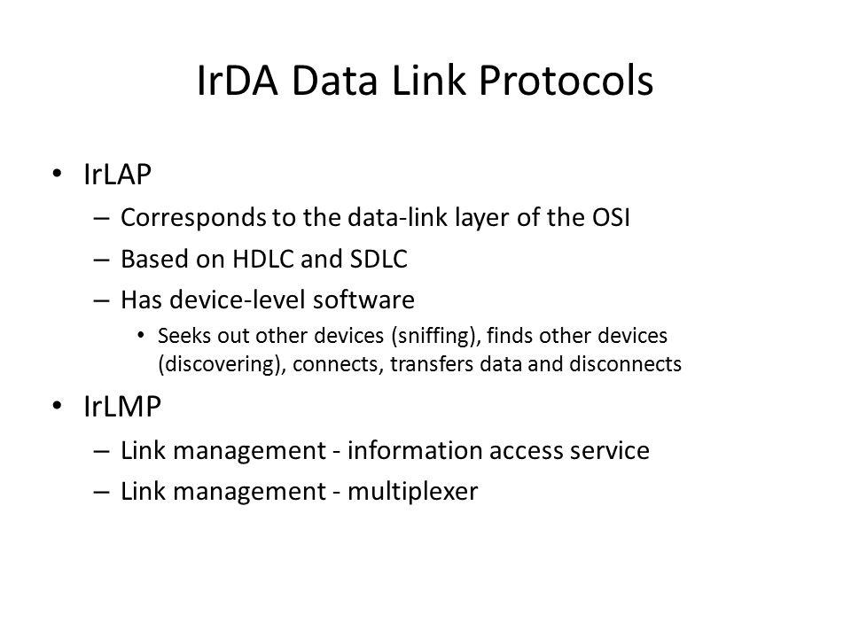 IrDA Data Link Protocols