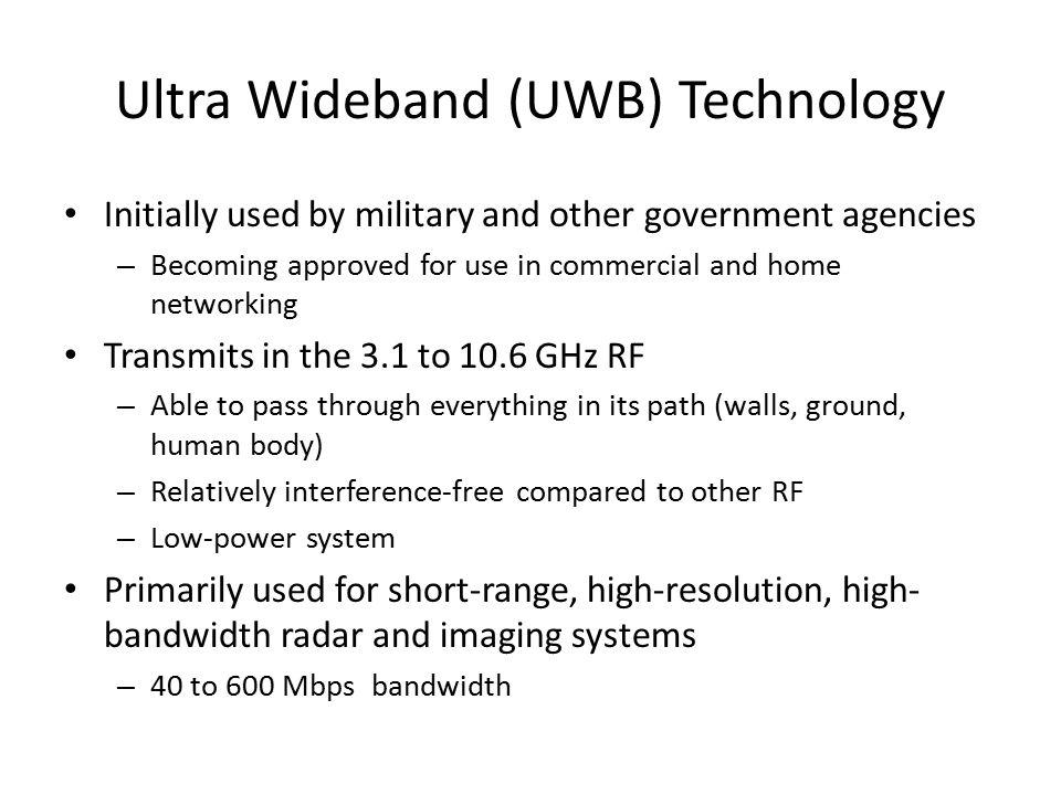 Ultra Wideband (UWB) Technology