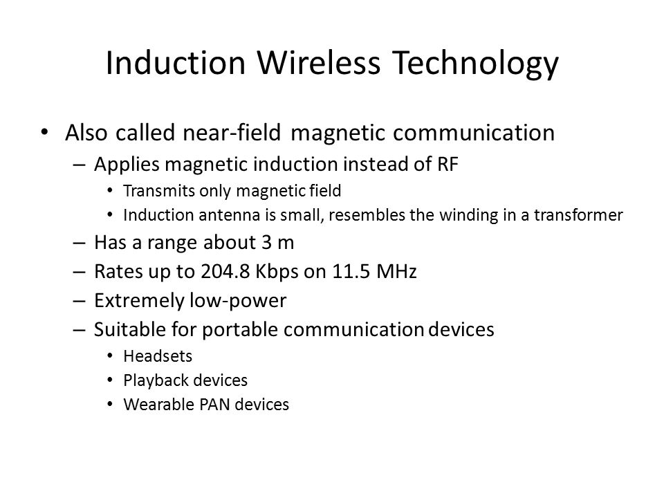 Induction Wireless Technology