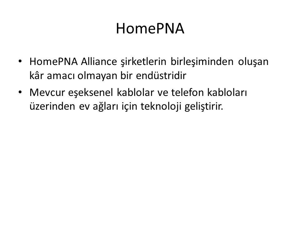 HomePNA HomePNA Alliance şirketlerin birleşiminden oluşan kâr amacı olmayan bir endüstridir.