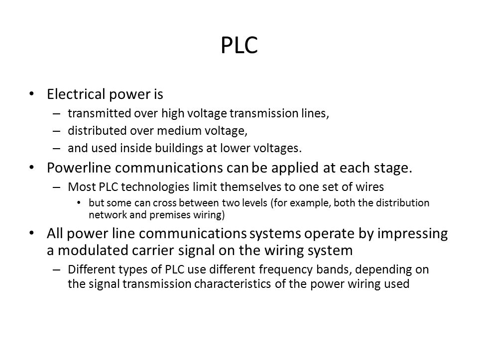 PLC Electrical power is