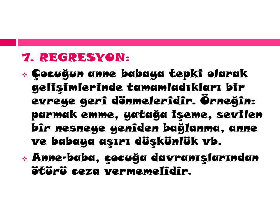 7. REGRESYON: