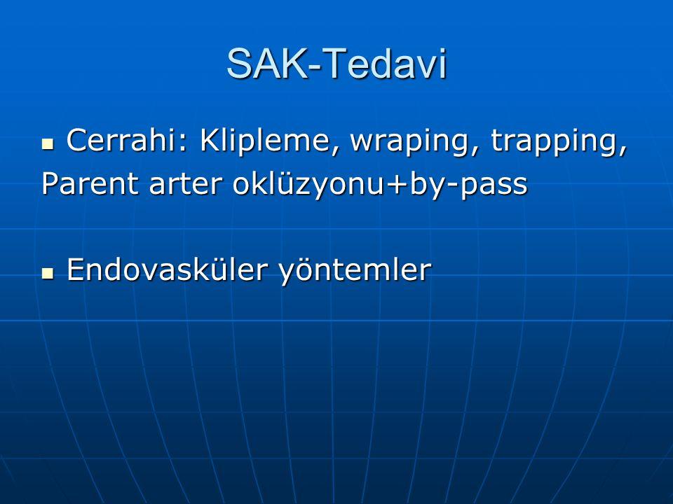 SAK-Tedavi Cerrahi: Klipleme, wraping, trapping,