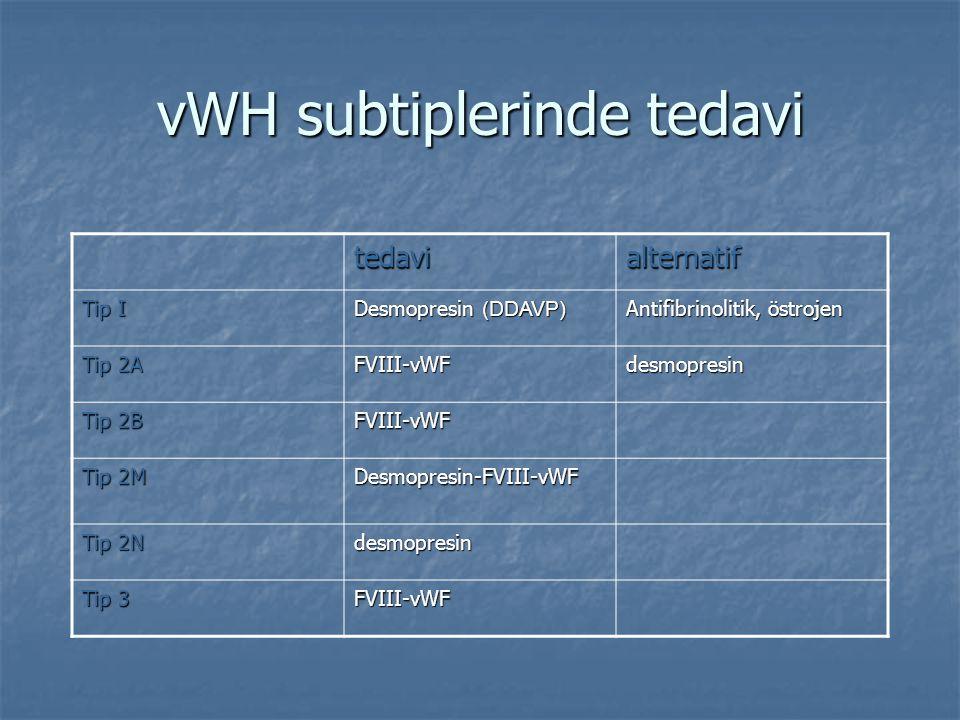 vWH subtiplerinde tedavi