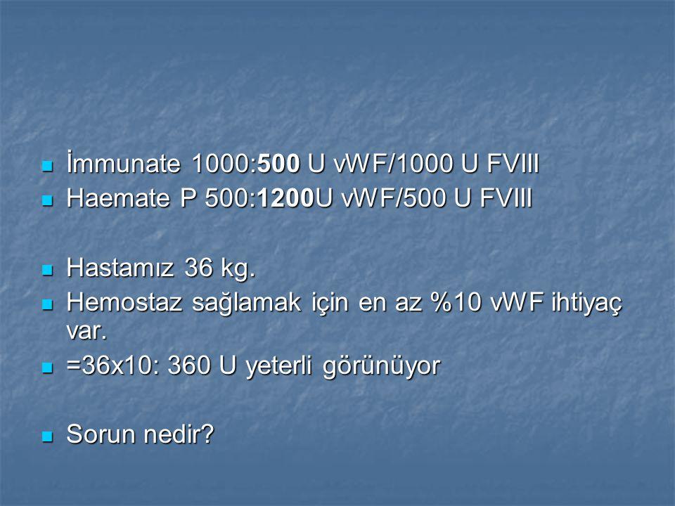 İmmunate 1000:500 U vWF/1000 U FVIII