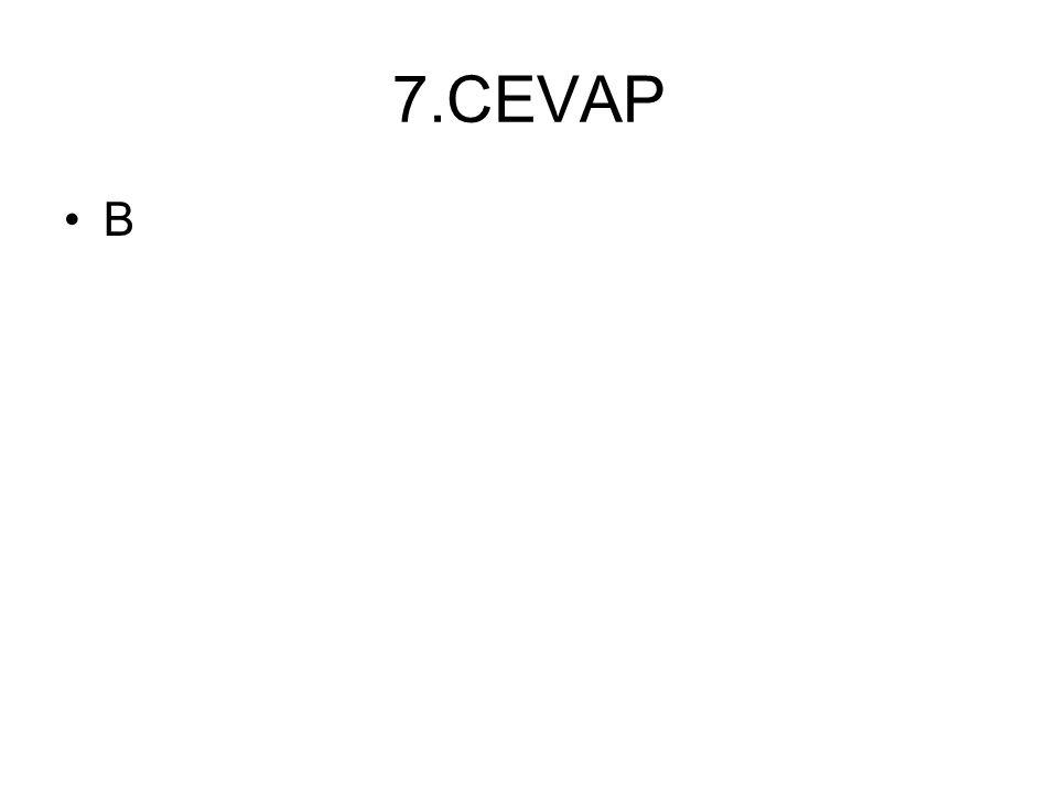 7.CEVAP B