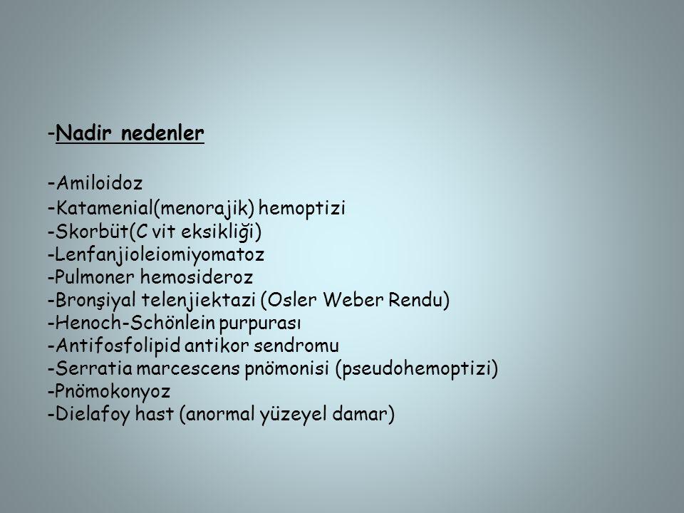 -Katamenial(menorajik) hemoptizi