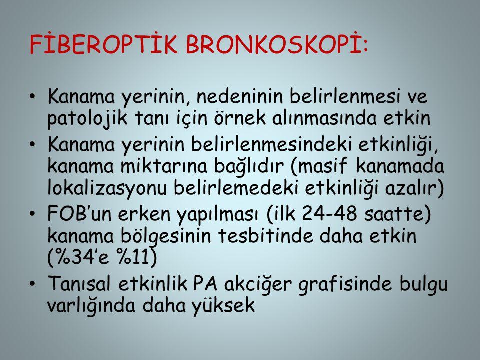 FİBEROPTİK BRONKOSKOPİ: