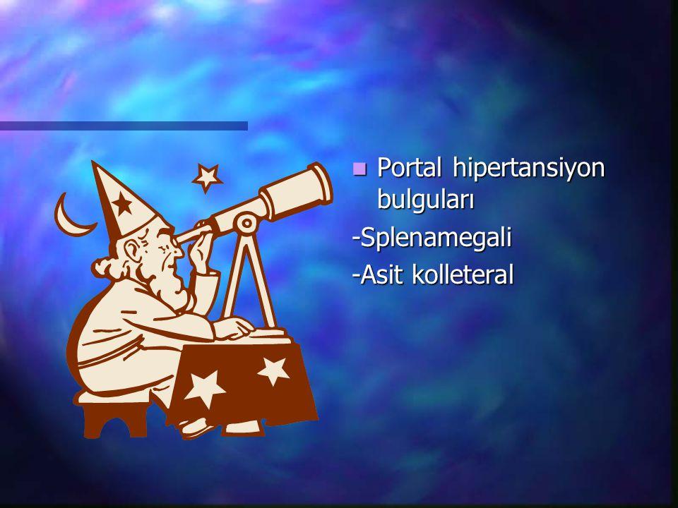 Portal hipertansiyon bulguları