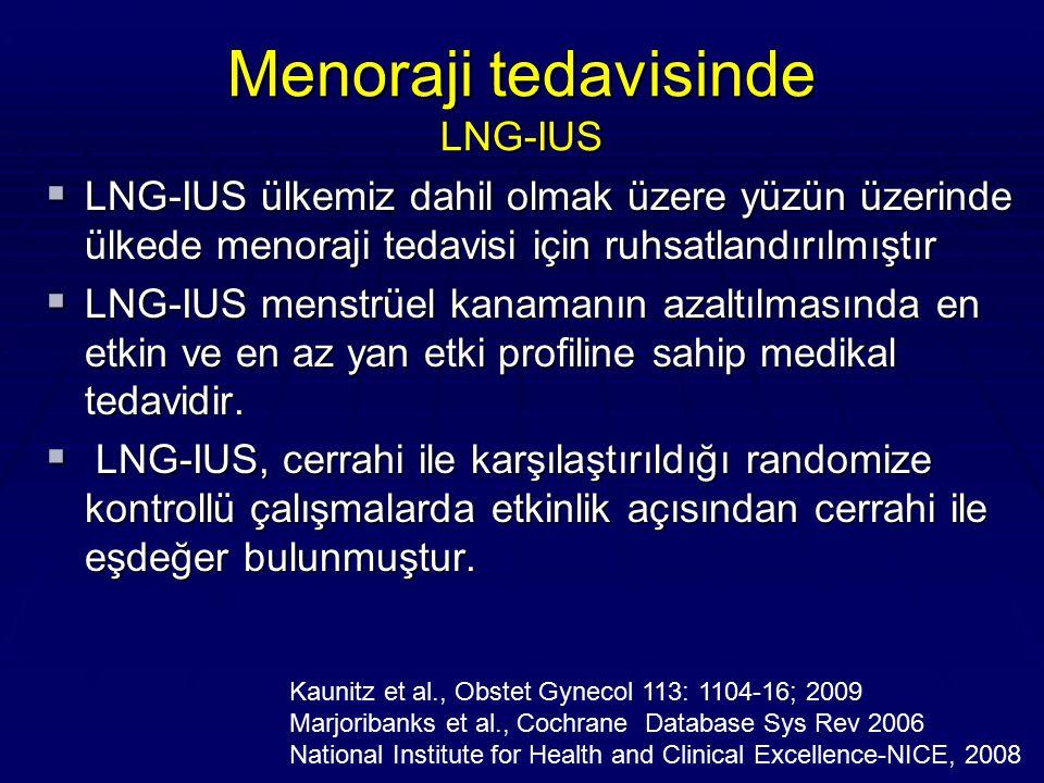 Menoraji tedavisinde LNG-IUS