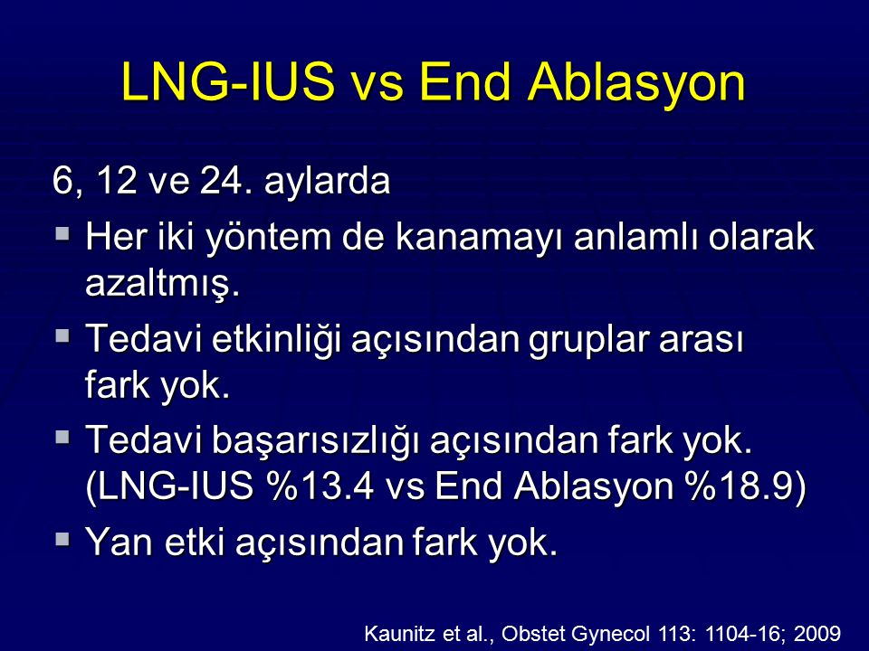 LNG-IUS vs End Ablasyon