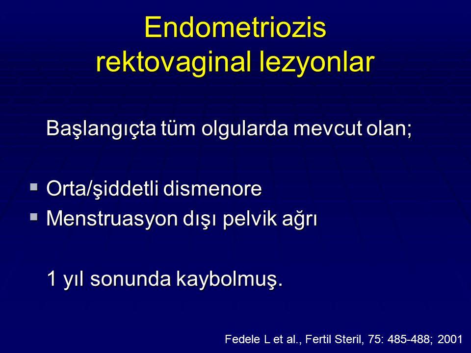 Endometriozis rektovaginal lezyonlar