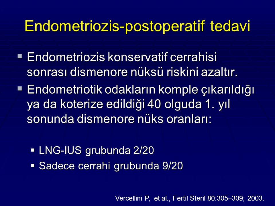 Endometriozis-postoperatif tedavi